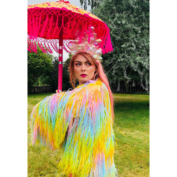 Trixie Pastel Rainbow Tinsel Jacket 4 WEEK PRE-ORDER