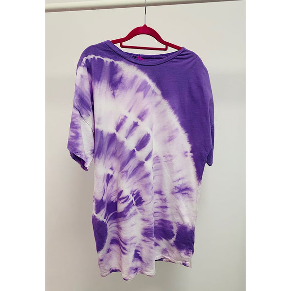 Purple Tie Dye Summer Dress