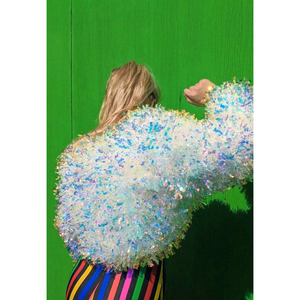 Champagne Holographic Tinsel Jacket (made to order)