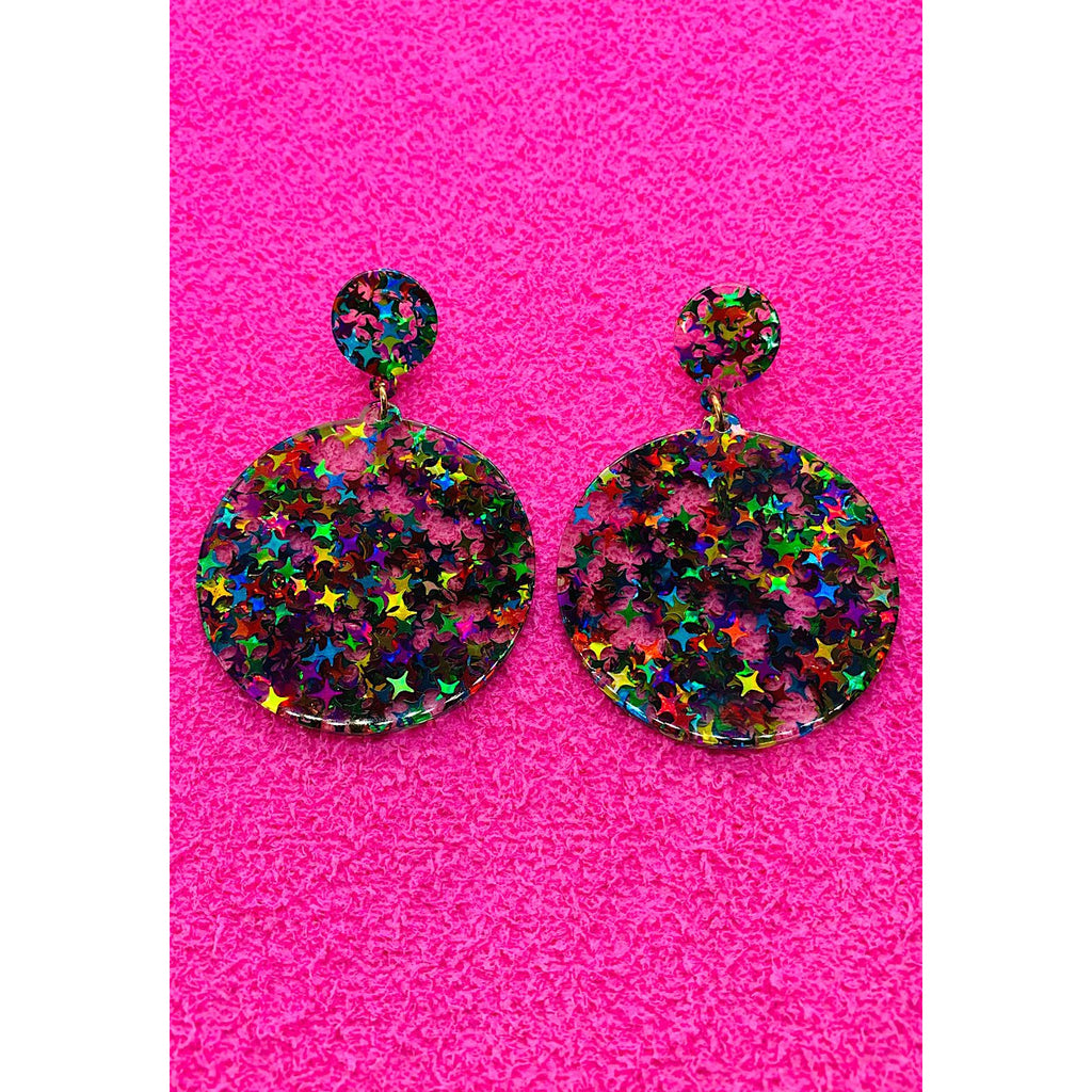 Rainbow Lagoon Sequin Earrings