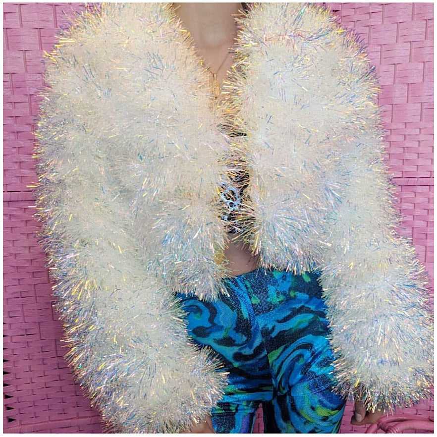 Polar Bear Holographic Tinsel Jacket (made to order)