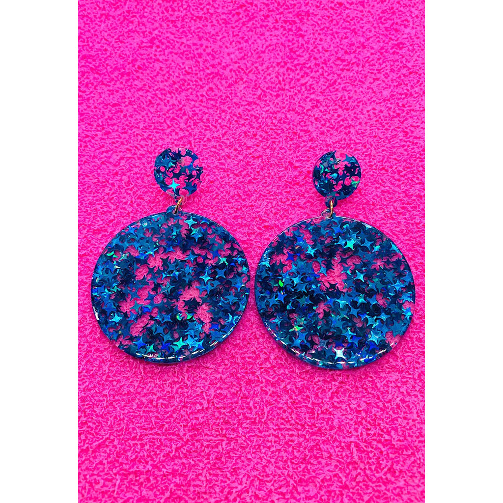 Blue Lagoon Sequin Earrings