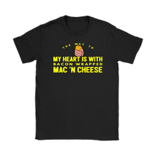 Load image into Gallery viewer, Bacon wrapped Mac n Cheese womens Food fun