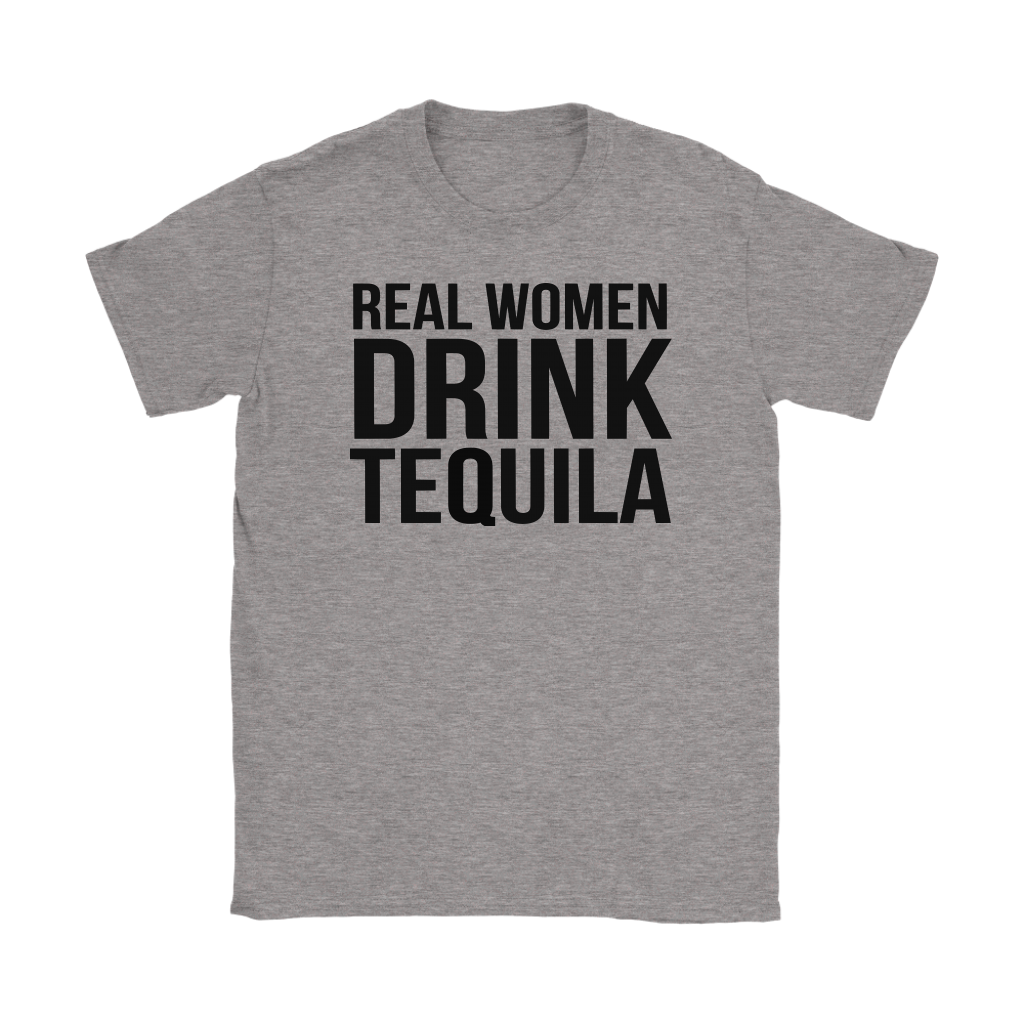 Real woman drink Tequila Just fun