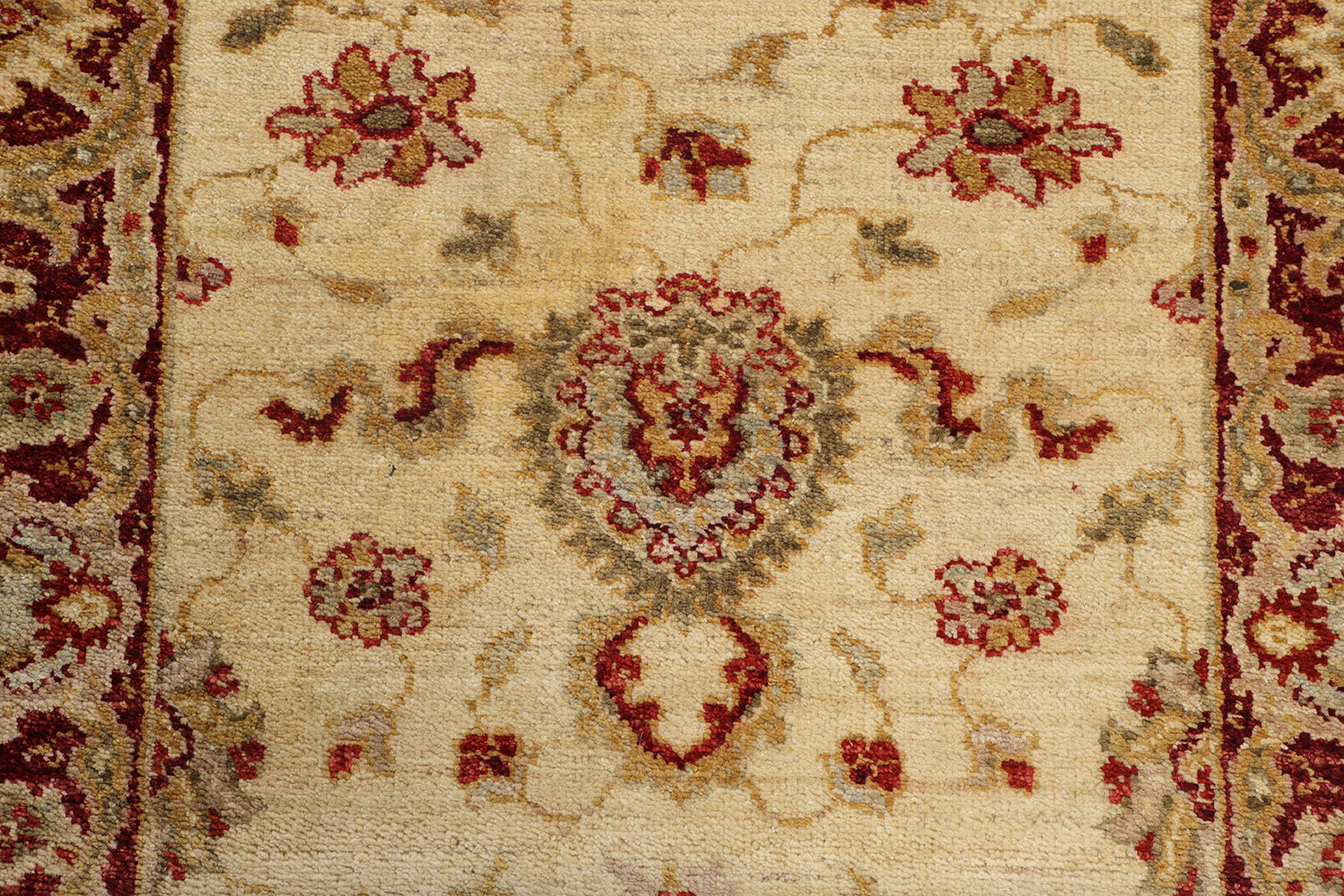 Hand Knotted Ariana Carpet 2 7 X 10 Traditional Ivory Fine Wool Ru Mehar Carpets Home