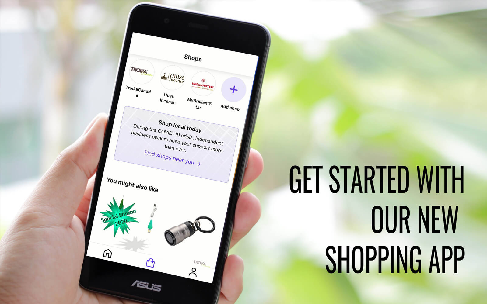 "SAY HELLO TO ""SHOP"" - YOUR CONVENIENT SHOPPING APP"
