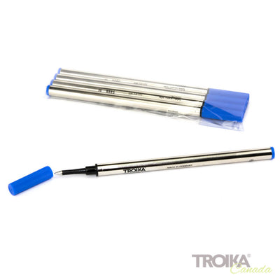 "REFILL TROIKA Rollerball pen ""World in your Hand"" - blue"
