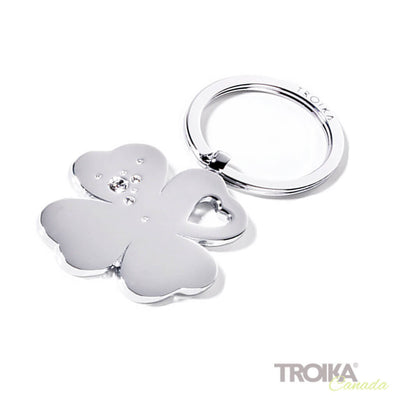 "TROIKA Keychain  ""GIRLS BEST FRIENDS Clover"" - silver"