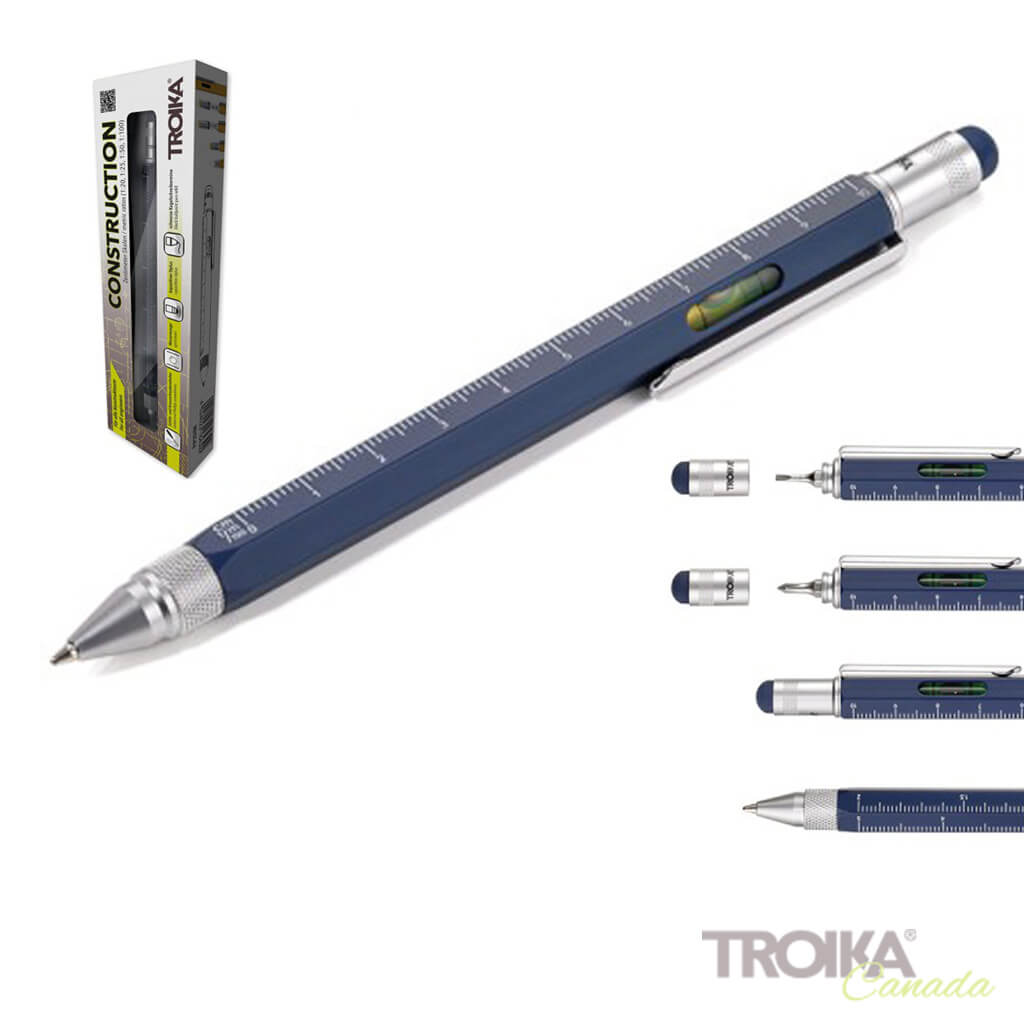 "TROIKA Multitasking ballpoint pen ""CONSTRUCTION"" - blue"