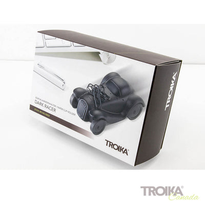 "TROIKA Paper clip holder ""DARK RACER"" -black"