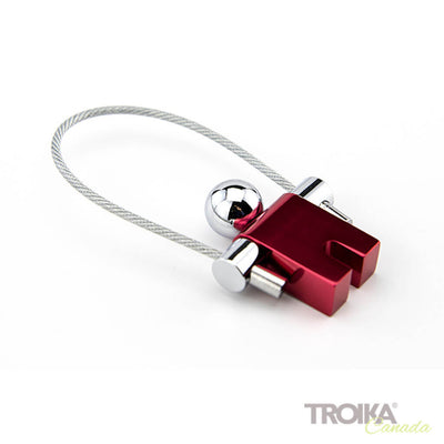 "TROIKA Keychain ""JUMPER"" - red"