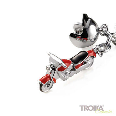 "TROIKA Keyring with 2 charms ""KEY CRUISING"" red"