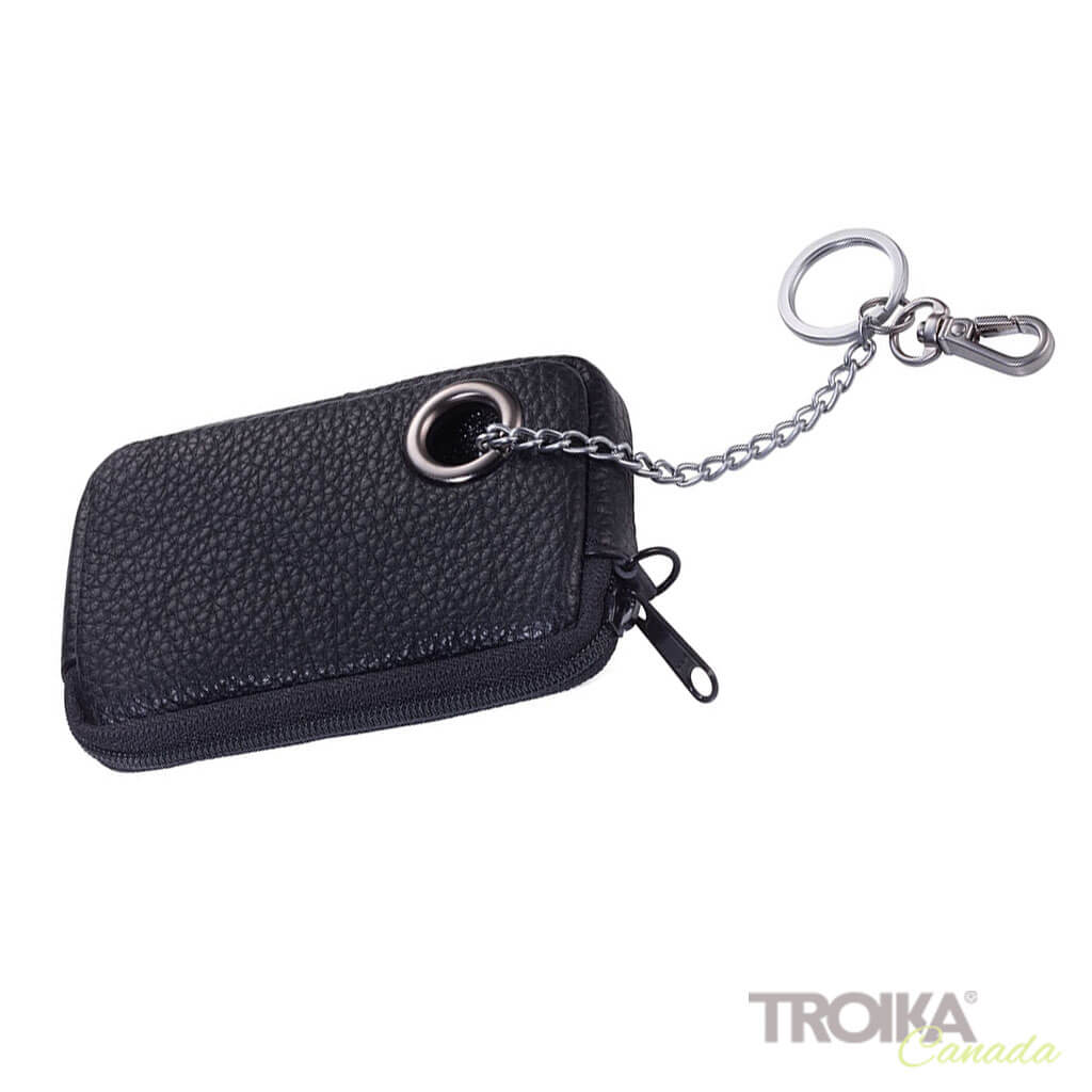 "TROIKA Case for keys and coins ""KEYHOLE"" - black"