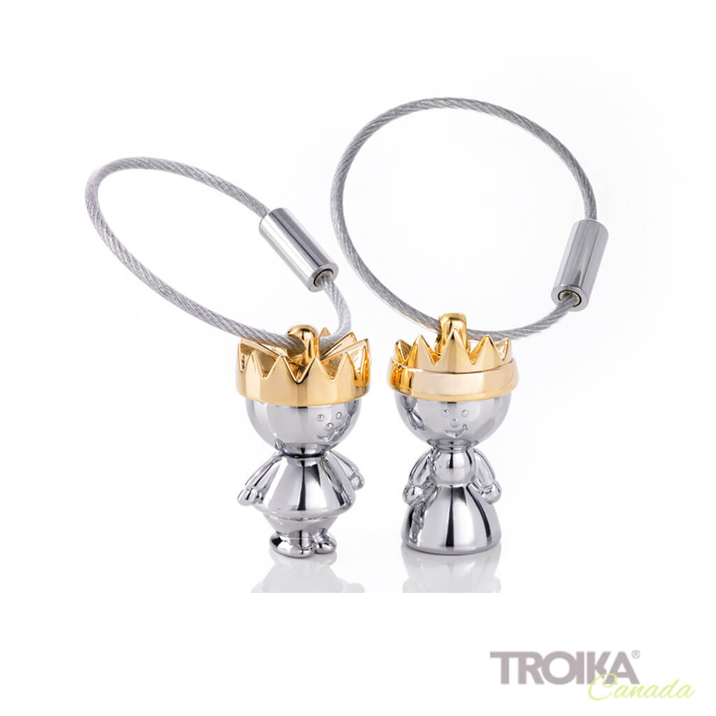 "TROIKA Key chain ""LITTLE KING LITTLE QUEEN"""