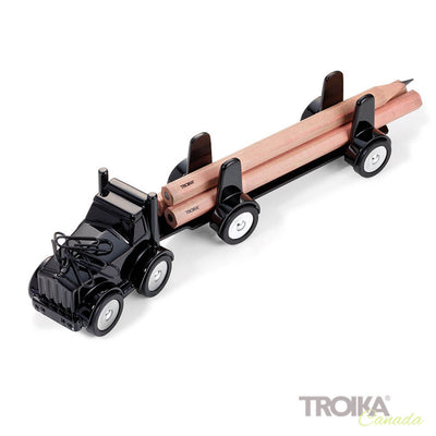 "TROIKA Paper clip holder ""LUMBER TRUCK"" - black"