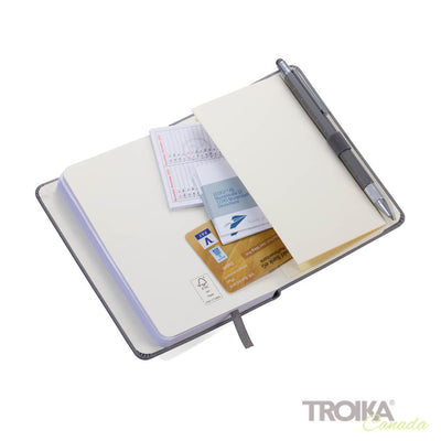 TROIKA Notepad DIN A6 incl. ballpoint pen SLIM - YELLOW