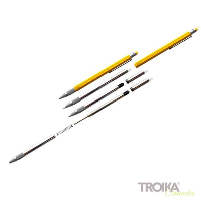 "TROIKA Multitasking ballpoint pen ""CONSTRUCTION SLIM"" - yellow"