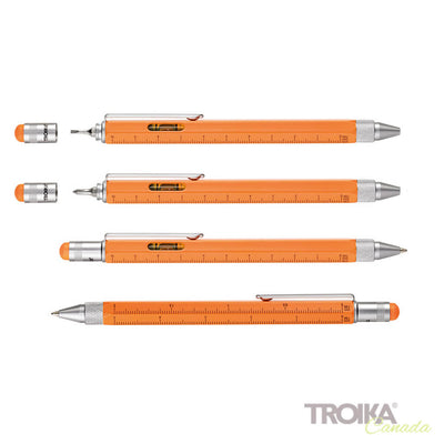 "TROIKA Multitasking ballpoint pen ""CONSTRUCTION"" - neon orange"