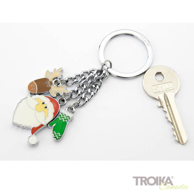 "TROIKA Keychain with 3 charms ""SANTA"""