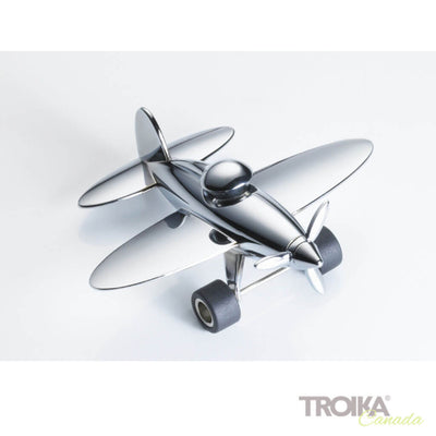 "TROIKA Paper clip holder ""STOP OVER"" - silver"