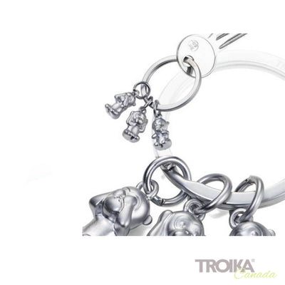 "TROIKA Keychain ""THREE MONKEYS"" - silver"