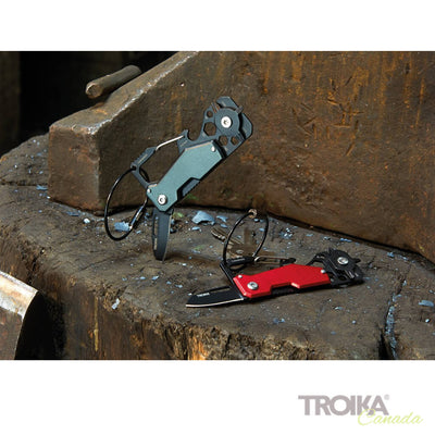 "TROIKA Key organizer and mini tool ""TOOLINATOR"" - black"