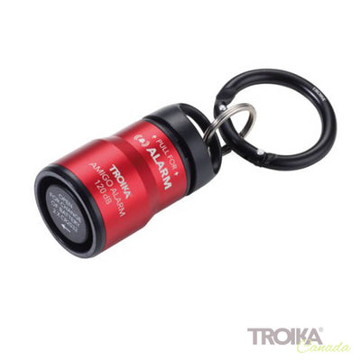 TROIKA Handbag alarm and keyring with carabiner ALARM AMIGO - red