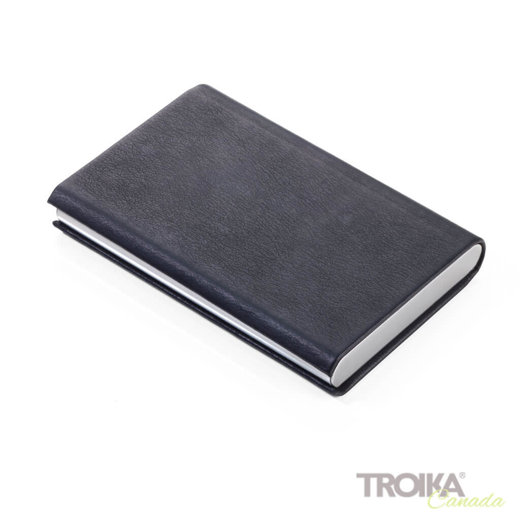 "TROIKA CREDIT CARD CASE ""MARBLE SAFE"" - BLACK"