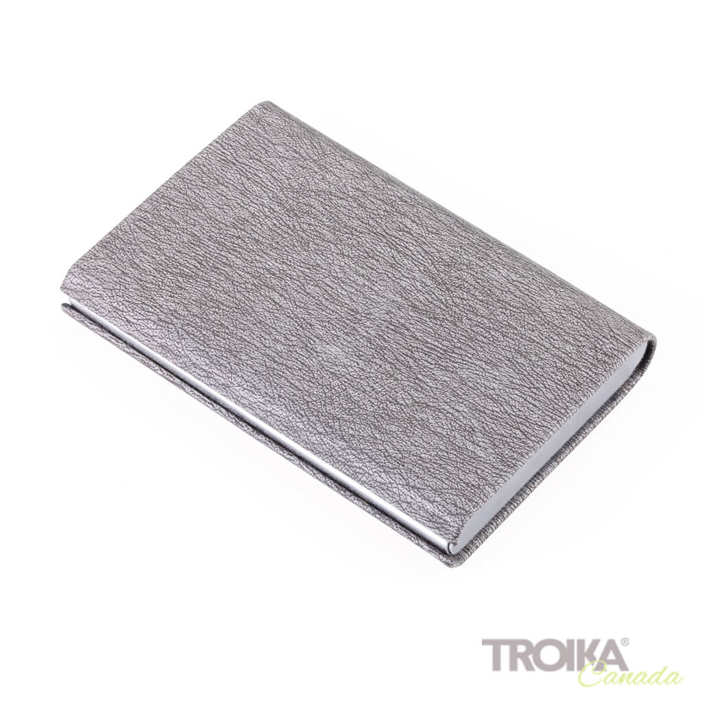"TROIKA CREDIT CARD CASE ""MARBLE SAFE"" - GREY"
