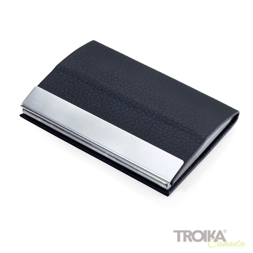 "BUSINESS CARD CASE ""CARD STAND"" - BLACK"