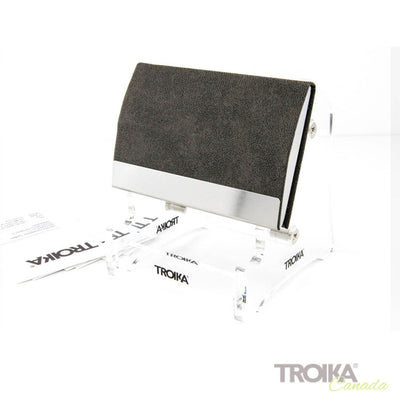 "BUSINESS CARD CASE ""CARD STAND"" - GREY"