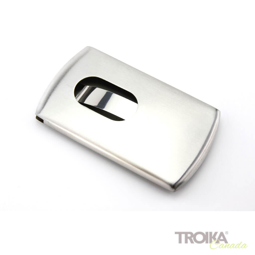 "BUSINESS CARD CASE ""SLIDE"" - SILVER"