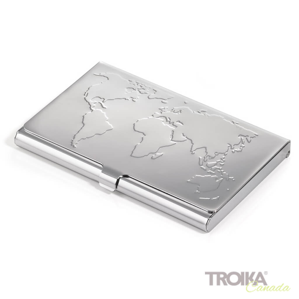 "TROIKA BUSINESS CARD CASE ""BUSINESS WORLD"""