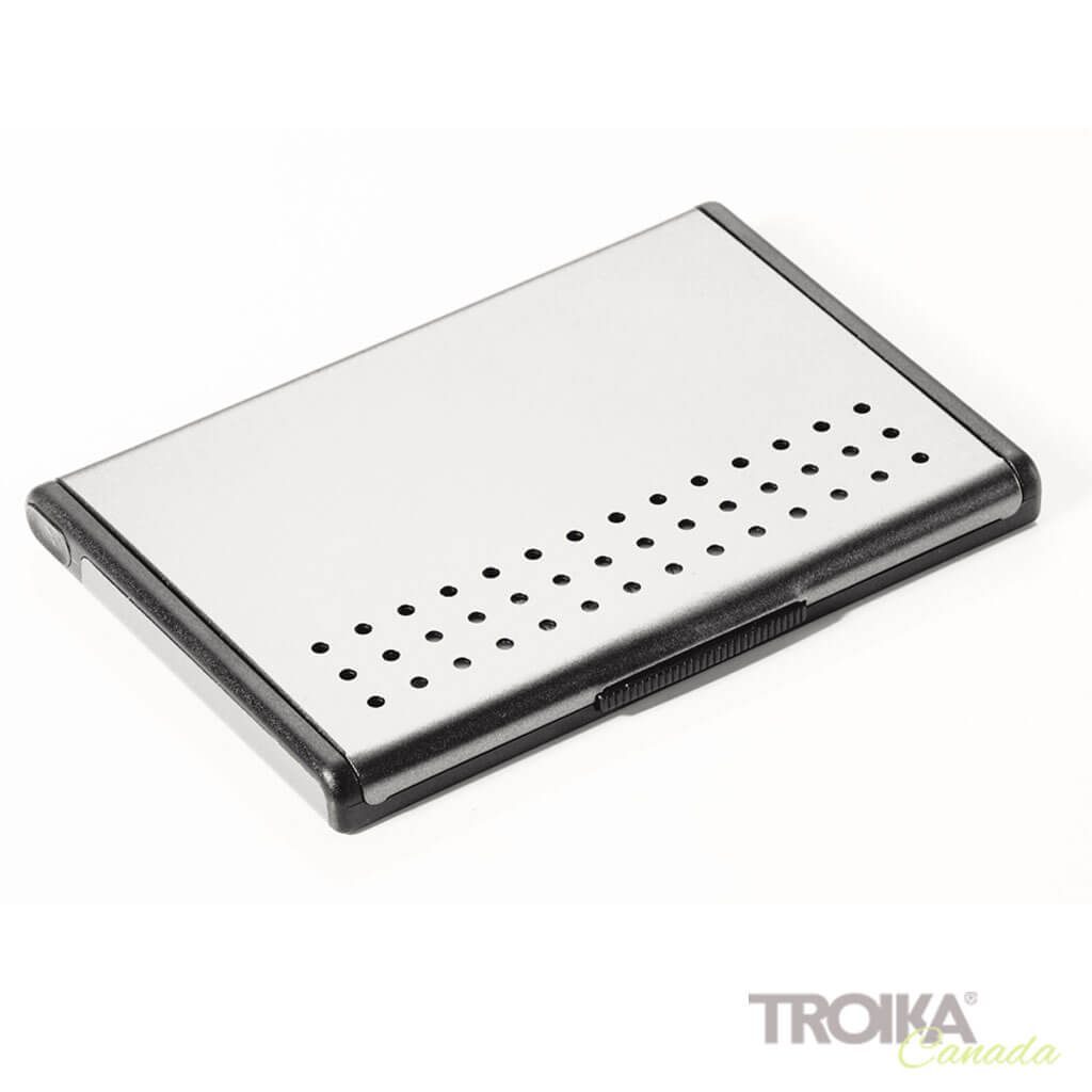 "BUSINESS CARD CASE ""MR. SLOWHAND"" - SILVER"