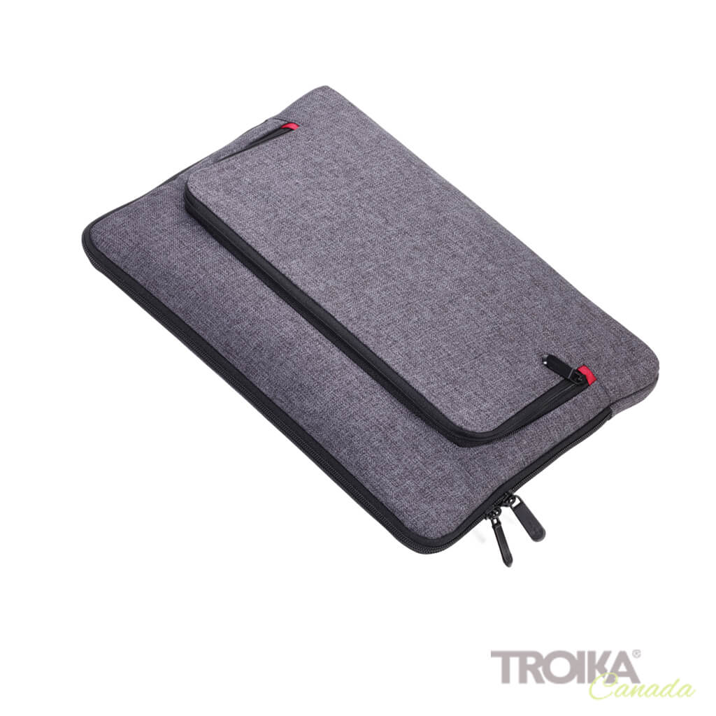 "TROIKA PORTFOLIO BAG ""MON CARRY"" - GREY"