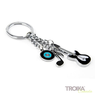 "TROIKA Keyring with 3 charms ""MUSIC"""