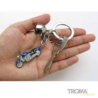 "TROIKA Keyring with 2 charms ""KEY CRUISING"" blue"