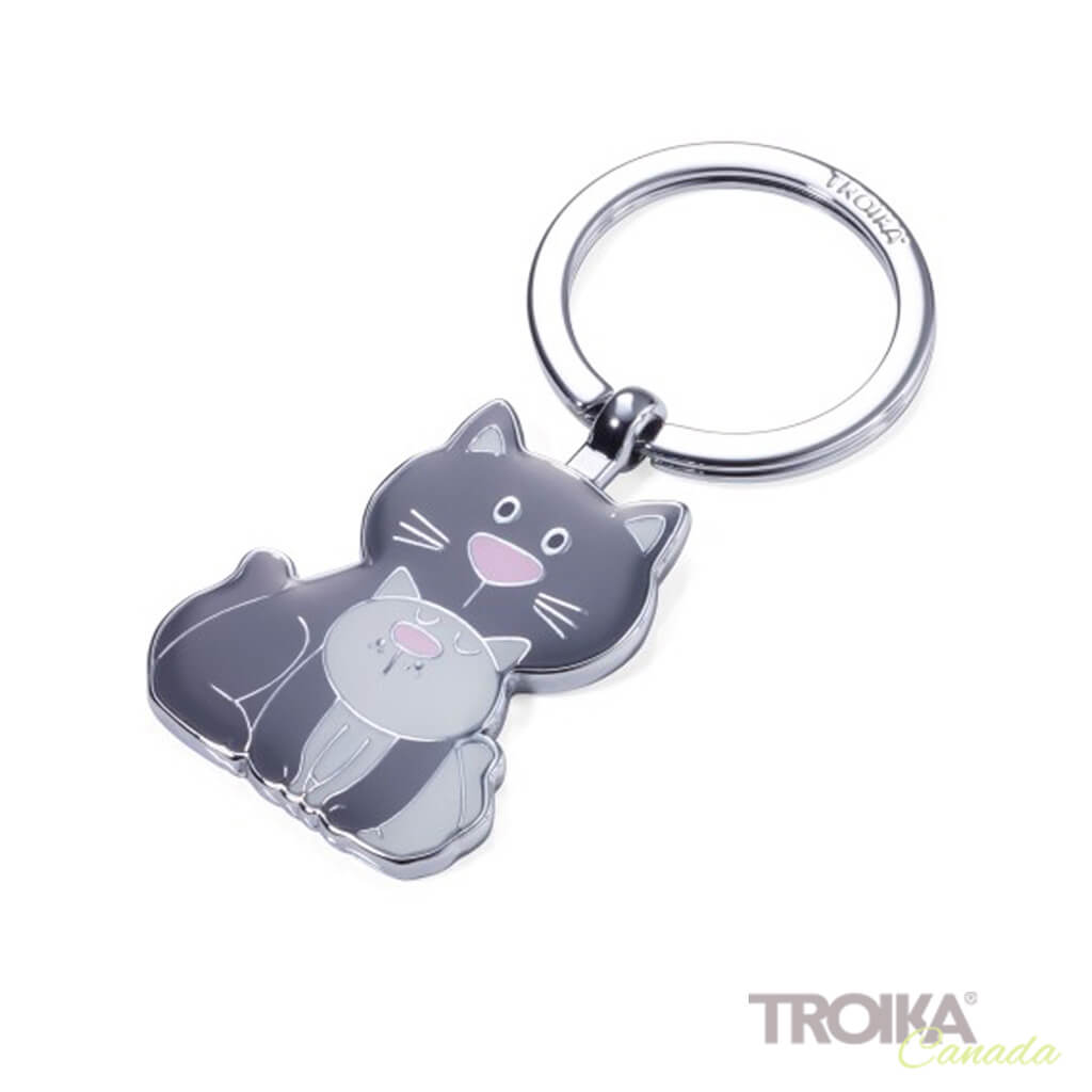 "TROIKA Keyring ""CAT & KITTY"""