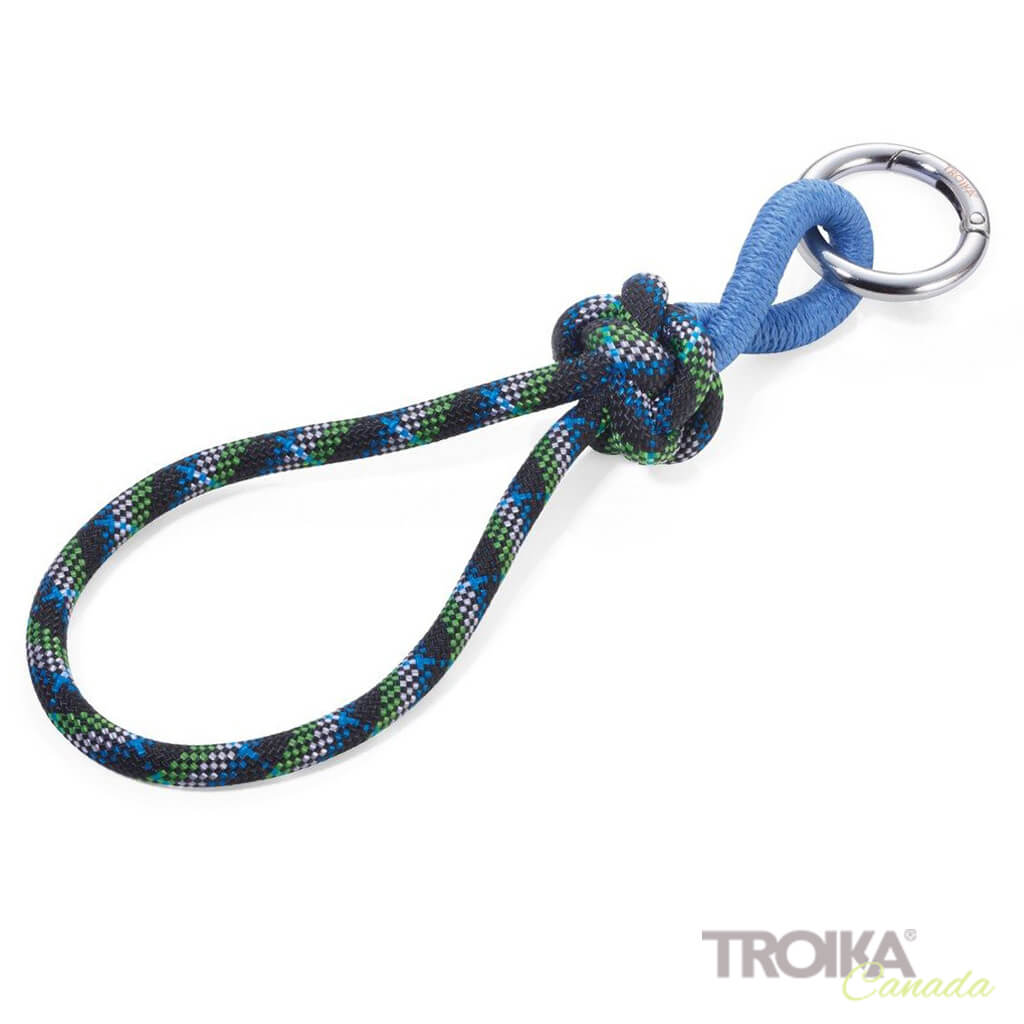 "TROIKA Keychain with loop ""CORDULA"" - BLUE"