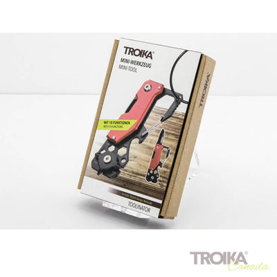 "TROIKA Key organizer and mini tool ""TOOLINATOR"" - red"