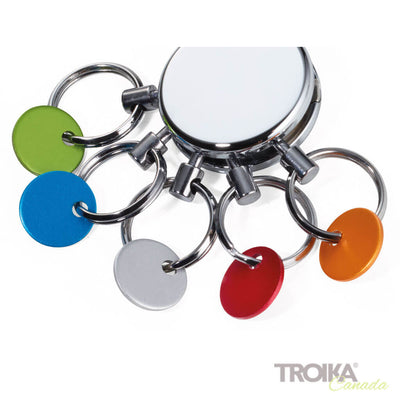 Replacement rings for PATENT/colour keyring shiny, set of 5