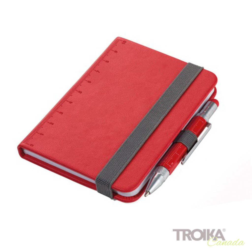 TROIKA Notepad DIN A7 incl. ballpoint pen LILIPUT - red
