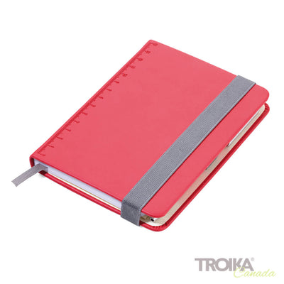 TROIKA Notepad DIN A6 incl. ballpoint pen SLIM - RED