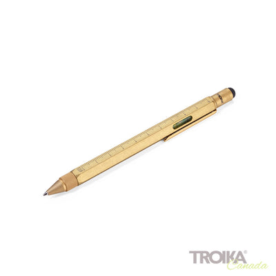 "TROIKA Multitasking ballpoint pen ""CONSTRUCTION"" - brass"