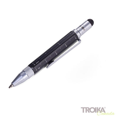 "TROIKA Multitasking ballpoint pen ""CONSTRUCTION LILIPUT"" - small black"
