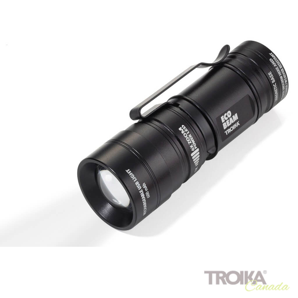 "TROIKA Torch ""ECO BEAM"" - black"