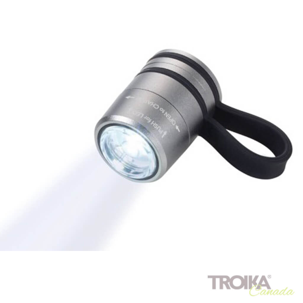 TROIKA Torch Light ECO RUN - titanium