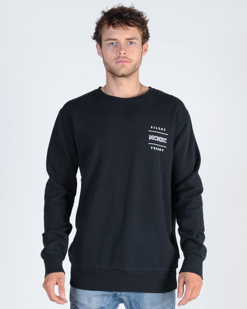 Silent Theory Vicious Crew Sweat - Washed Black
