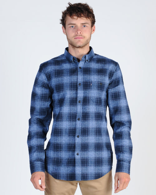 Academy Bronty L/S Check Shirt - Charcoal/Blue