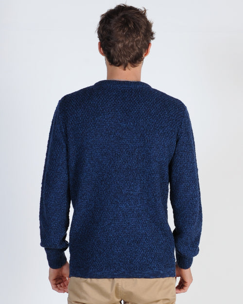 Academy Monkwell Knit Jumper - Navy/Charcoal